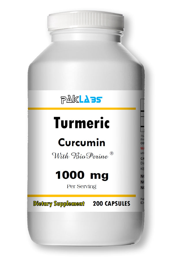 Turmeric Curcumin BioPerine 1000mg Serving High Potency 200 Capsules Pill Best PL