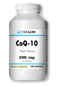 CoQ-10 CoEnzyme Q-10 200mg High Potency Big Bottle 200 Capsules PL