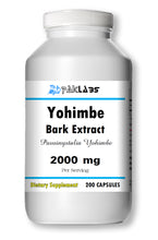Load image into Gallery viewer, Yohimbe Bark Extract 2000mg High Potency 200 Capsules Big Bottle PL