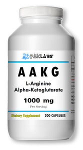 AAKG L-Arginine Alpha-Ketoglutarate 1000mg Serving Big Bottle 200 Capsules PL
