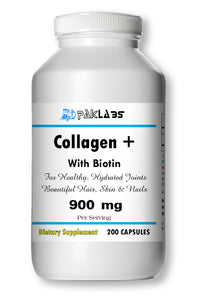 Collagen+ Biotin Optimizer 900mg Serving For Joints, Hair, Nail, Skin Big Bottle 200 Capsules PL
