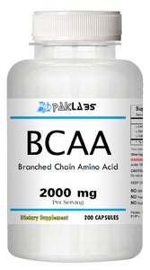 BCAA Branched Chain Amino Acids 1000mg Serving 200 Capsules PL
