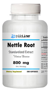 Nettle Root Extract (stinging) 800mg Serving 200 Capsules Urtica Dioica Bottle PL