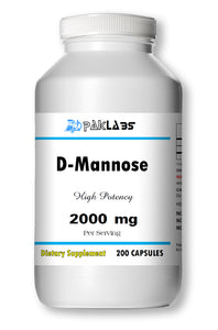 D-Mannose 2000mg Serving High Potency Big Bottle 200 Capsules PL