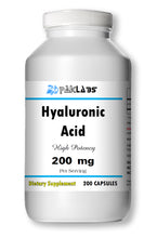 Load image into Gallery viewer, Hyaluronic Acid 200mg Serving High Potency Big Bottle 200 Capsules PL