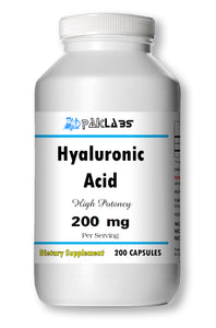 Hyaluronic Acid 200mg Serving High Potency Big Bottle 200 Capsules PL