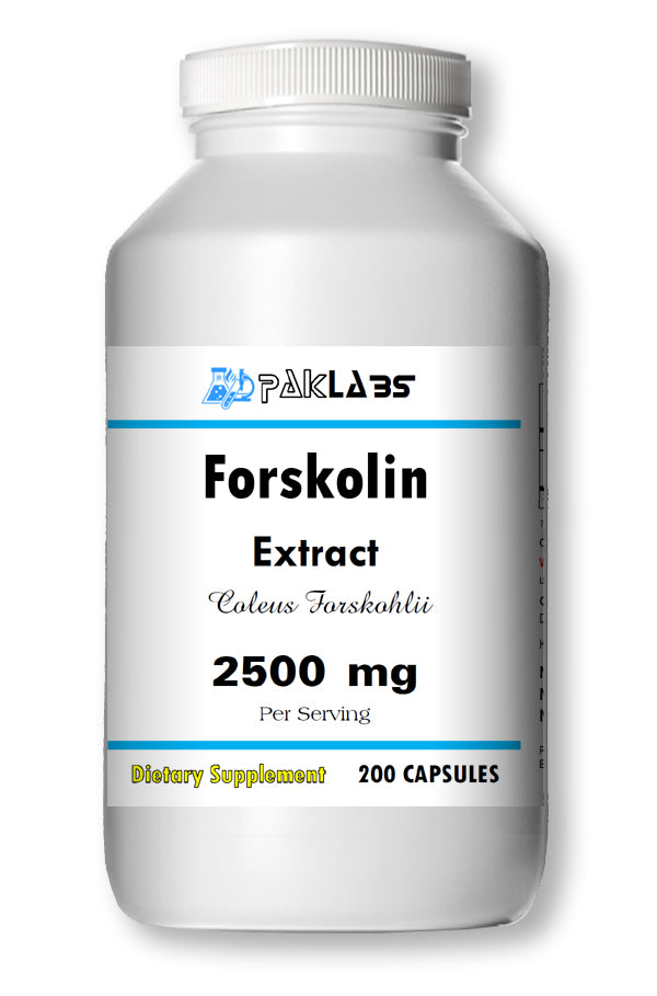Forskolin 100% Organic Extract 2500mg Coleus Forskohlii Weight Loss 200 Capsules PL