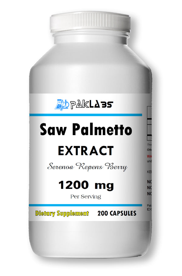Saw Palmetto Extract 1200mg 100% Organic Extract 200 Caps Men Prostate Health PL
