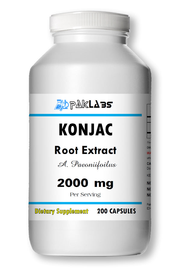 KONJAC Root Extract 200 Capsules 2000mg Weight Loss-Suppress Appetite Whole Herb PL