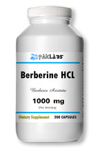 Load image into Gallery viewer, Berberine HCl 1000mg Diabetes,Depression,Cholesterol,Heart Big Bottle 200 Capsules PL