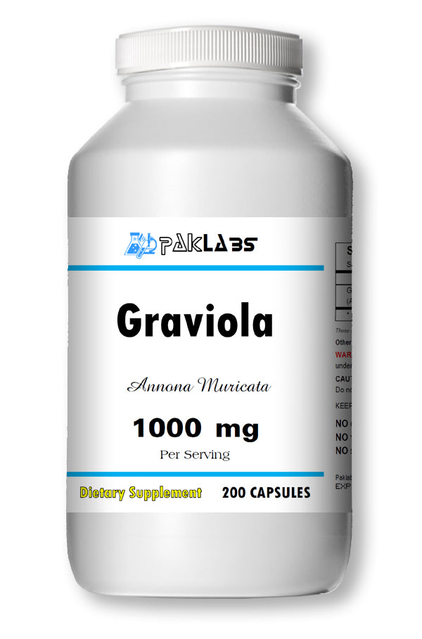 Graviola 1000mg Guanabana / Soursop Big Bottle 200 Capsules PL