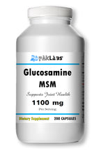 Load image into Gallery viewer, Glucosamine MSM DOUBLE STRENGTH 1100mg Big Bottle 200 Capsules PL