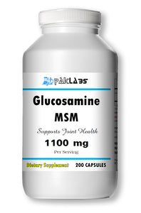 Glucosamine MSM DOUBLE STRENGTH 1100mg Big Bottle 200 Capsules PL
