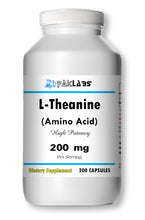 Load image into Gallery viewer, L-Theanine 200mg, 200 Capsules - Stress Relief Double Strength PL