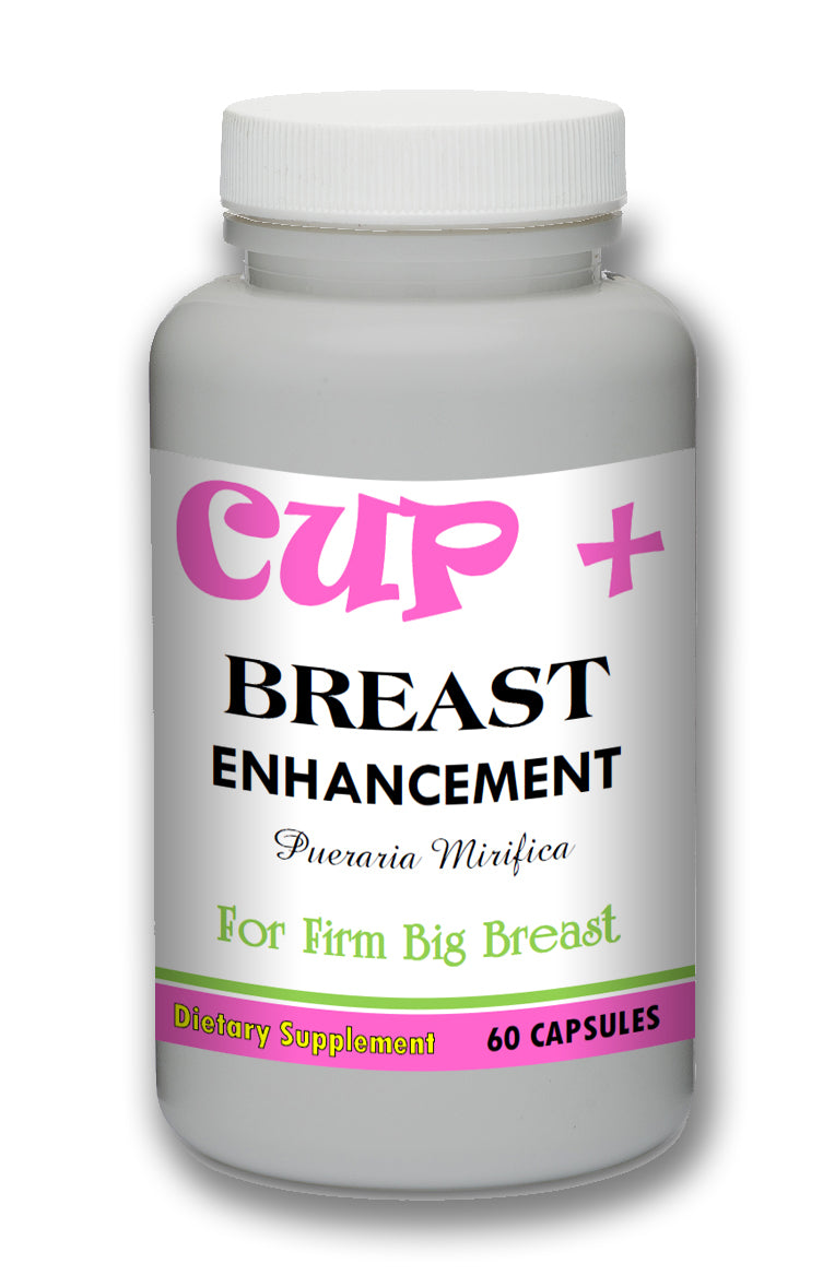 CUP+ Pueraria Mirifica Breast Enhancement Pills - 60 Pills Bottle 1000mg Per Serving