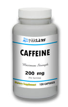 Load image into Gallery viewer, Caffeine High Potency 200mg High Potency Big Bottle 120 Capsules PL