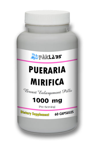 Pueraria Mirifica Breast Enhancement Pills - 60 Pills Bottle 1000mg Per Serving