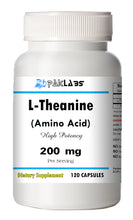 Load image into Gallery viewer, L-Theanine 200mg, 120 Capsules - Stress Relief Double Strength PL