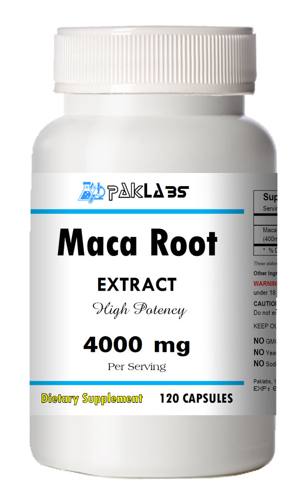 Maca Root Extract 4000mg 120 Capsules Big Bottle USA Shipping PL