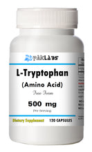 Load image into Gallery viewer, L-Tryptophan Amino Acid 500mg, 120 Capsules Big Bottle USA Shipping PL