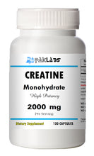 Load image into Gallery viewer, Creatine Monohydrate 2000mg Serving High Potency Big Bottle 120 Capsules PL