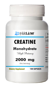 Creatine Monohydrate 2000mg Serving High Potency Big Bottle 120 Capsules PL