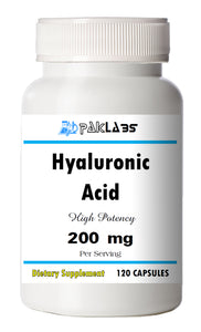Hyaluronic Acid 200mg Serving High Potency Big Bottle 120 Capsules PL
