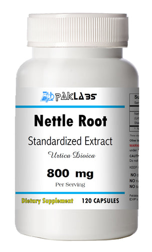 Nettle Root Extract (stinging) 800mg Serving 120 Capsules Urtica Dioica Bottle PL