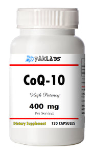 CoQ-10 CoEnzyme Q-10 400mg Super High Potency Big Bottle 120 Capsules PL