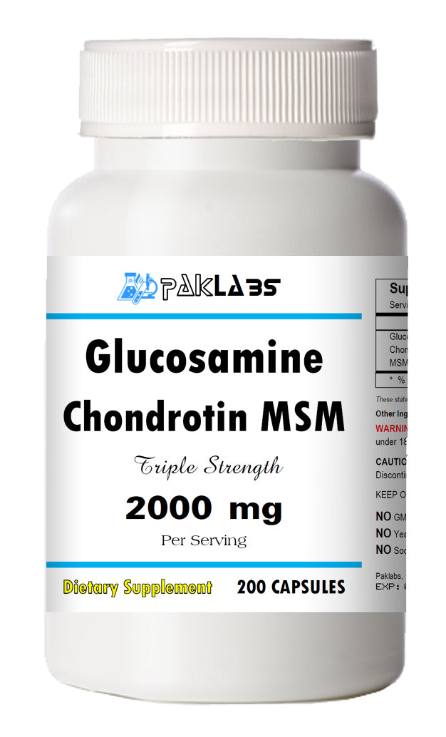 Glucosamine Chondrotin MSM Triple Strength 2000mg Big Bottle 120 Capsules PL