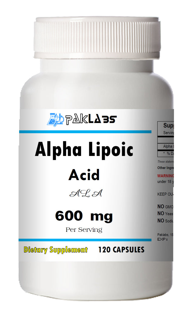 ALA Alpha Lipoic Acid 600mg Serving Extreme Strength Big Bottle 120 Capsules PL