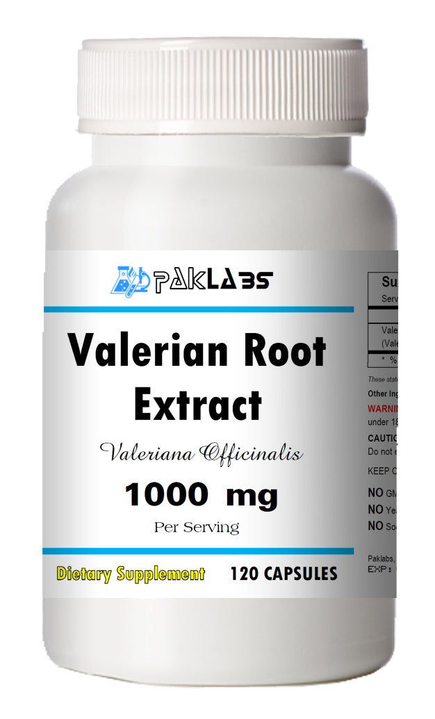Valerian Root Extract 1000mg Serving High Potency 120 Capsules PL