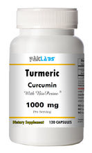 Load image into Gallery viewer, Turmeric Curcumin BioPerine 1000mg Serving High Potency 120 Capsules Pill Best PL