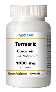 Turmeric Curcumin BioPerine 1000mg Serving High Potency 120 Capsules Pill Best PL