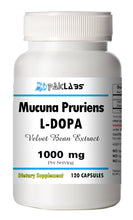 Load image into Gallery viewer, Mucuna Pruriens 1000mg Natural L-DOPA 15% BEST DEAL 120 Capsules Velvet Bean PL