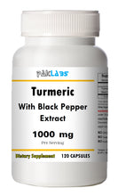 Load image into Gallery viewer, Turmeric With Black Pepper Extract 1000mg Serving High Potency 120 Capsules Pill PL