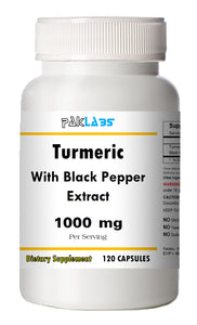 Turmeric With Black Pepper Extract 1000mg Serving High Potency 120 Capsules Pill PL