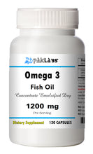 Load image into Gallery viewer, Fish Oil 1200 mg, EPA, DHA OMEGA-3 High Potency Big Bottle 120 Capsules PL