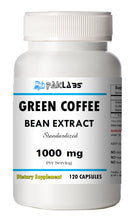 Load image into Gallery viewer, Green Coffee Bean Extract Chlorogenic Acid 1000mg Weight Loss 120 Capsules PL