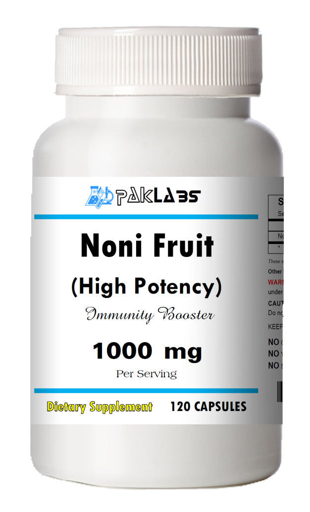 Noni Fruit (Morinda Citrifolia) 120 Capsules 1000mg Serving High Potency BOTTLE PL