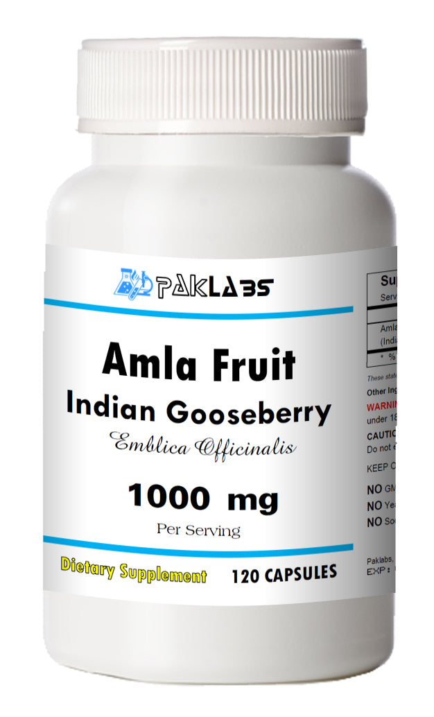 Amla Fruit Indian Gooseberry 1000mg 1000 mg High Potency Big Bottle 120 Capsules PL
