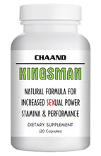 Load image into Gallery viewer, KINGSMAN - SEX PILLS FOR MEN - STAMINA & HARDNESS - NATURAL DIETARY SUPPLEMENT 20 Pills