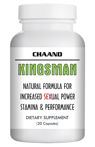 KINGSMAN - SEX PILLS FOR MEN - STAMINA & HARDNESS - NATURAL DIETARY SUPPLEMENT 20 Pills