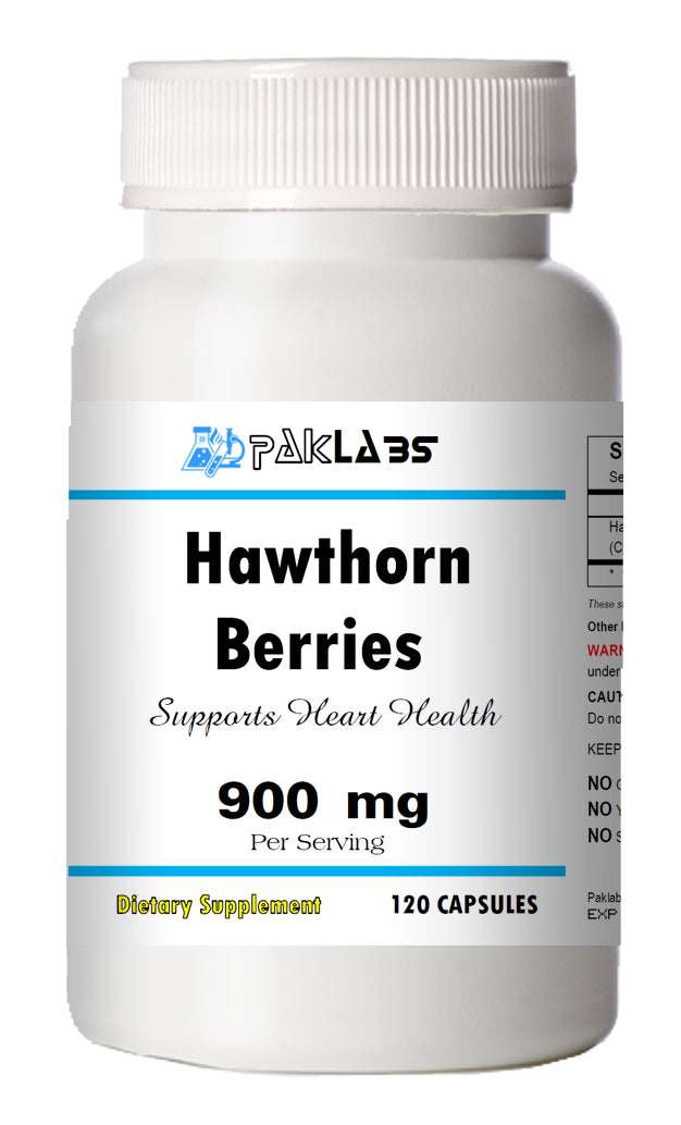 Hawthorn Berry Berries 900mg High Potency Big Bottle 120 Capsules PL