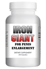 Load image into Gallery viewer, Iron Giant - MALE PENIS ENLARGEMENT PILLS LONGER BIGGER GROWTH 1-3 INCHES 120 DAYS
