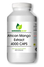 Load image into Gallery viewer, African Mango Extract 4000mg 200 Capsules Fat Burner, Diet Irvingia Gabonensis GL