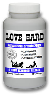 LOVE HARD - Male Enhancement Sex Pills Best Sexual Supplement Enhancer Live Men 30 Pills