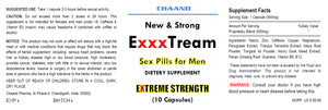ExxxTREAM AMAZING SEX PILLS FOR MEN - BRAND NEW - Extreme Hard Erection 10x Bottles