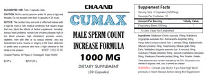 CUMAX - SEX PILLS FOR MEN - INCREASE EJACULATION LOAD VOLUME - NATURAL DIETARY SUPPLEMENT 60 Pills 2x Bottles