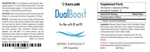 DUAL BOOST - SEX PILLS FOR MEN - SPECIAL DOUBLE FORMULA - NATURAL DIETARY SUPPLEMENT 30 Pills